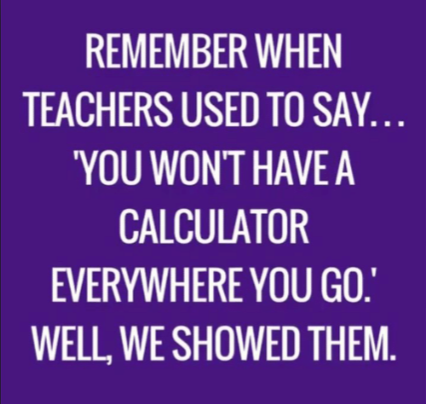 no calculator