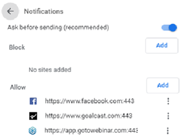 Chrome-allow-block
