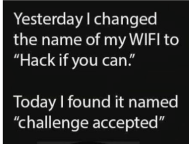 named wifi: hack if you can